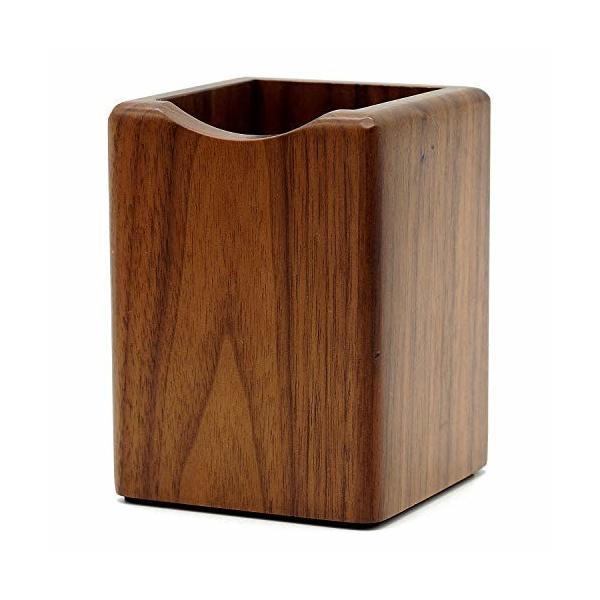 木製 ペン立て 鉛筆たて ペンスタンド 文房具立て 卓上文房具入れ (ウォルナット)