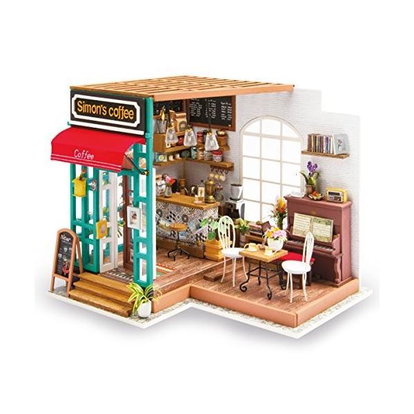 Robotime DIYドールハウス 3Dパズル 模型 LED付属 おもちゃ オモチャ 知育玩具 男の子 女の子 大人 入園祝い 新年