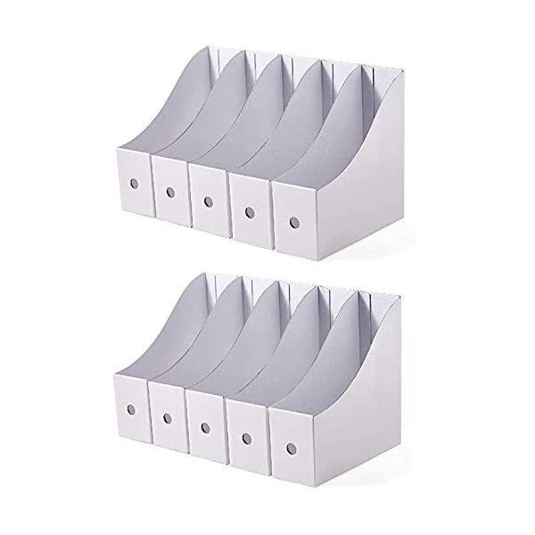 Panavage ファイルボックス A4 紙 収納ボックス 小物入れ ファイルスタンド 書類ケース 机上収納ボックス ファイ