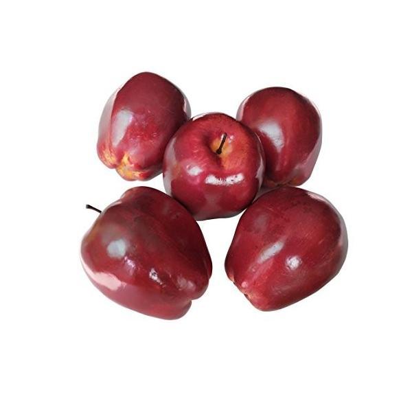 人工的なりんごの人工的なフルーツの赤いおいしいりんごの装飾的なフルーツ、装飾的なフルーツのための人