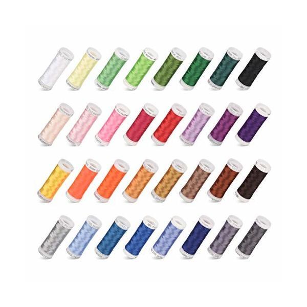 ミシン糸 刺しゅう糸 カラー糸 手縫い糸 DIY刺しゅう糸 32色セット各300m