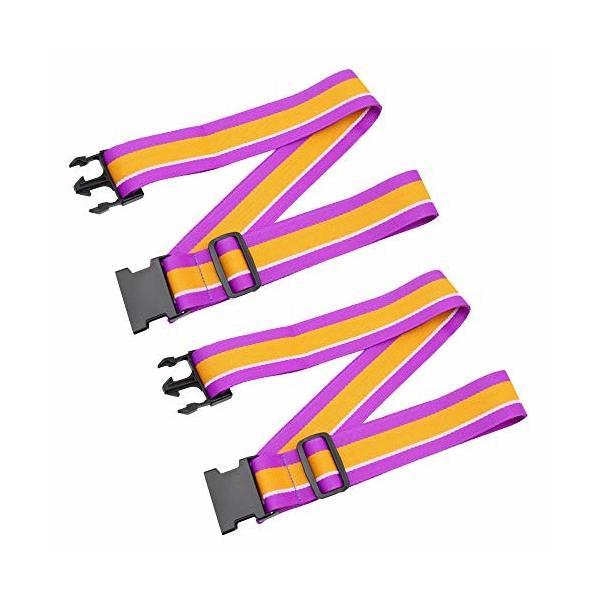 COOL LACE スーツケースベルト (紫の)