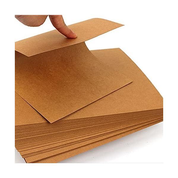 TCATEC A4 クラフト紙 DIYクラフトペーパー 100枚 0.33mm 260g 厚口 はがき用紙 名刺 紙カードストックを描く カード