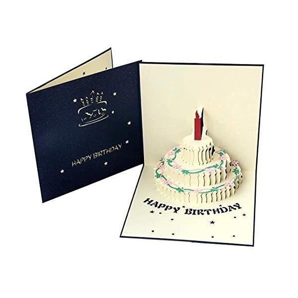 Paper Spiritz 立体ケーキグリーティングカード,ポップアップカード誕生日,母の日カード,結婚記念カード,祝賀