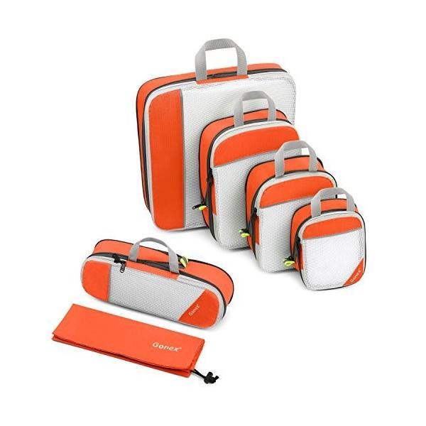 Gonex トラベル圧縮保存バッグ 6点セット 圧縮バッグ アレンジケース 大容量 パッキングオーガナイザー 旅行