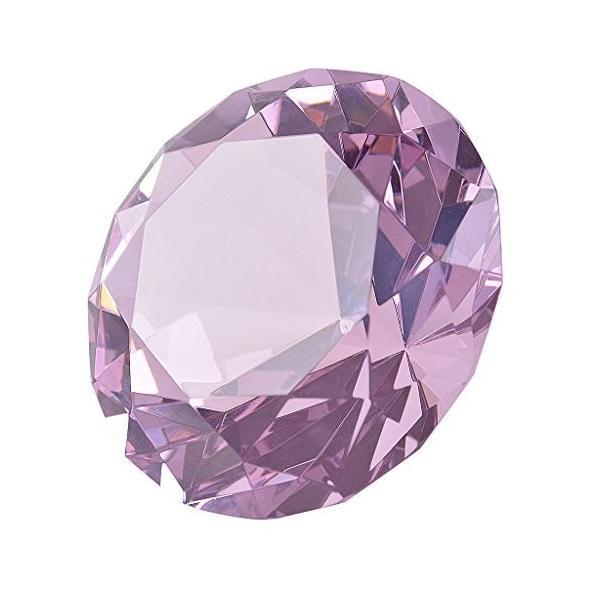 多色透明 水晶 ダイヤモンド 100mm ペーパーウェイト ガラス 文鎮 装飾品 誕生日 母の日 結婚記念日 プレゼント