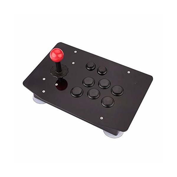HAMILO ゲーム ジョイスティック USB 格ゲー Eスポーツ PC用 PS3PS4 アーケード (ブラック)