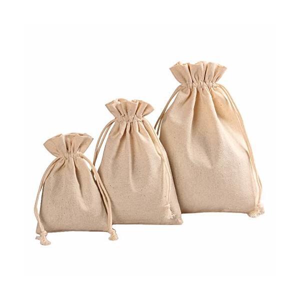 巾着 袋 (大 中 小)和柄 コットン 麻 おしゃれ 布 きんちゃく 小物 雑貨 オリジナルmini メッセージカード付き