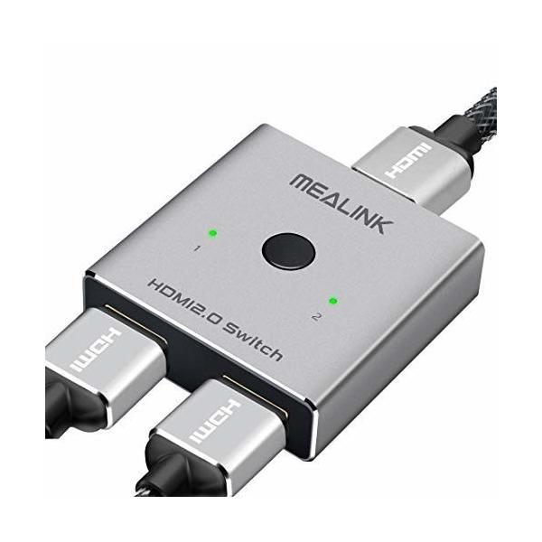 HDMI切替器 HDMI分配器 双方向 hdmiセレクター 4K/3D/1080p HDMI 2.0 HDR 2入力1出力/1入力2出力 手動切替 電源不要 Apple TV/