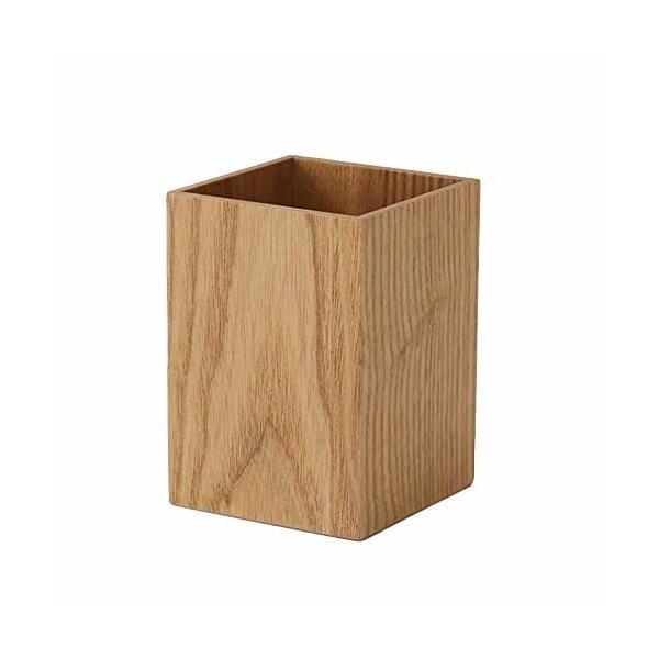 ペン立て 木製 ペンスタンド 卓上収納 箸立て カラトリースタンド 天然木 (ナチュラル木目調)