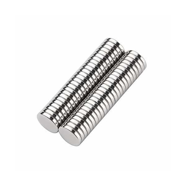 KLF 世界最強マグネット 耐熱220度 N52 ネオジウム磁石 角型/丸形 収納ケース付き (10*2mm(50個))