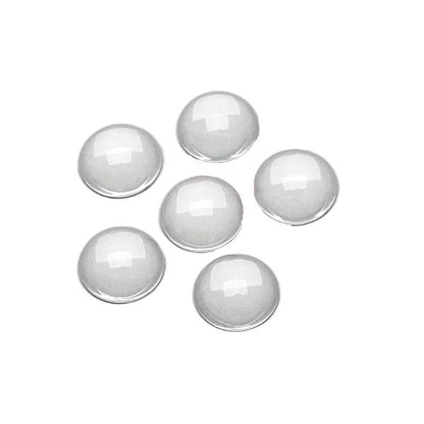 ガラスカボション 円形 ラウンドビーズ DIY ハンドメイド ジュエリー用 透明ドーム 拡大レンズ効果 アクセサ