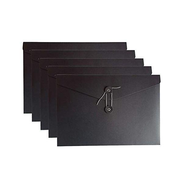 VANRA ファイル 封筒型 A4 封筒 紐付き ファイルフォルダー クラフトファイルケース 書類ケース ひも付き オフ
