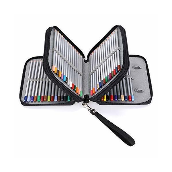 Sumnacon 新型 色鉛筆ホルダー 色鉛筆ケース 72 ペンシルホルダー 色鉛筆 収納ケース ペンケース 筆箱 大容量 人
