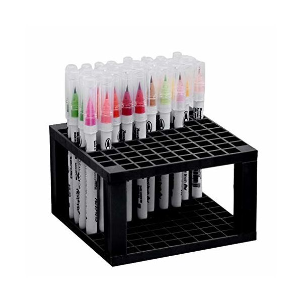 ペンスタンド 大容量 筆立て 96本立てられる 筆置き 絵筆 水彩画筆 鉛筆 マーカー 化粧ブラシなどの収納 ペン