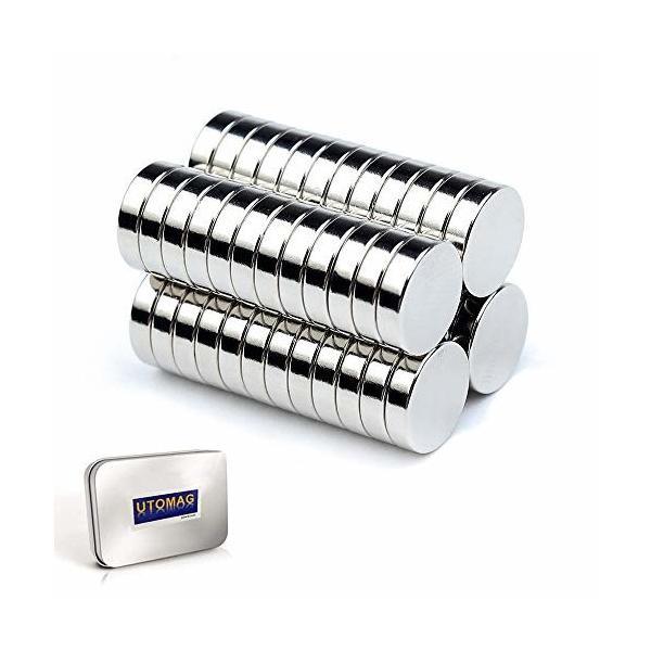 超強力 小型 多用途 丸形マグネット 磁石 小型丸ディスク磁石 冷蔵庫、事務所、科学、工芸に最適 (8x3mm−50個)