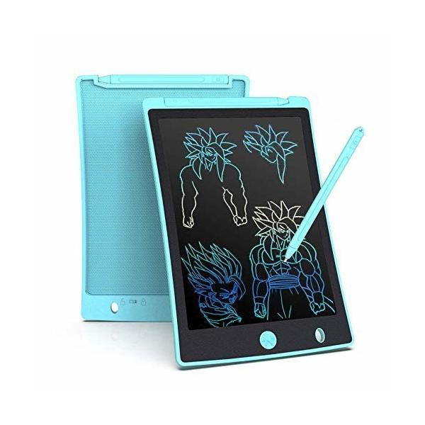 電子メモ帳 レインボーカラー ディスプレイ 高輝度 太い線 ワンタッチ消去 磁石付きペン付き 手書きパッド