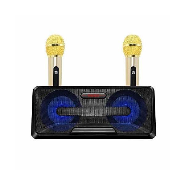 カラオケ歌うマシン Bluetoothカラオケマイク ホームKTV ワイヤレスマイクシステム 2ハンドヘルドマイク AUX TFカ