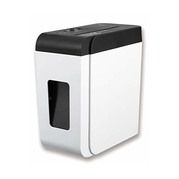 アスカ 超静音シュレッダー 家庭用 業務用 クロスカット 細断枚数6枚 連続使用10分 ホッチキス対応 コンパク
