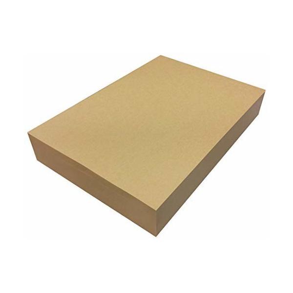 ペーパーエントランス クラフト紙 A4 75.5kg 未晒 500枚 コピー用紙 包装紙 ラッピング ブックカバー ブラウン 550