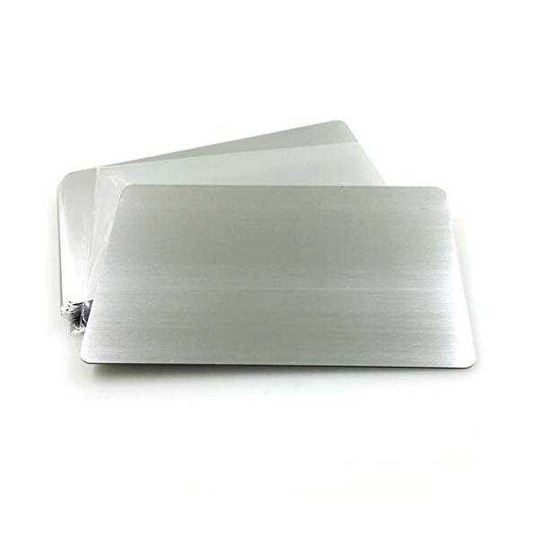 Ebamaz 304 ステンレス 名刺 86X54X0.5mm 金属の名刺 レーザー彫刻板 10個セット (空白、ブラッシュド銀)