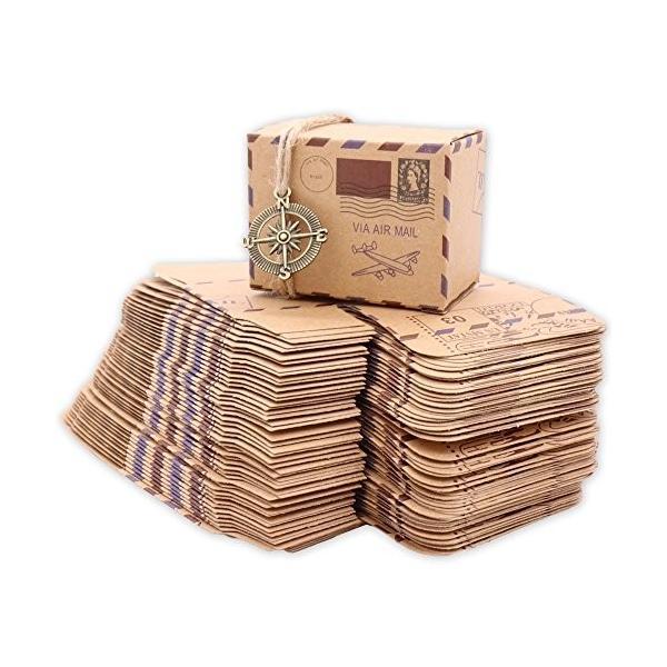 Flushbay ギフトボックス 50個セット キャンディ ボックス お菓子箱 パーティー 結婚式 誕生日用ボクス 贈り物