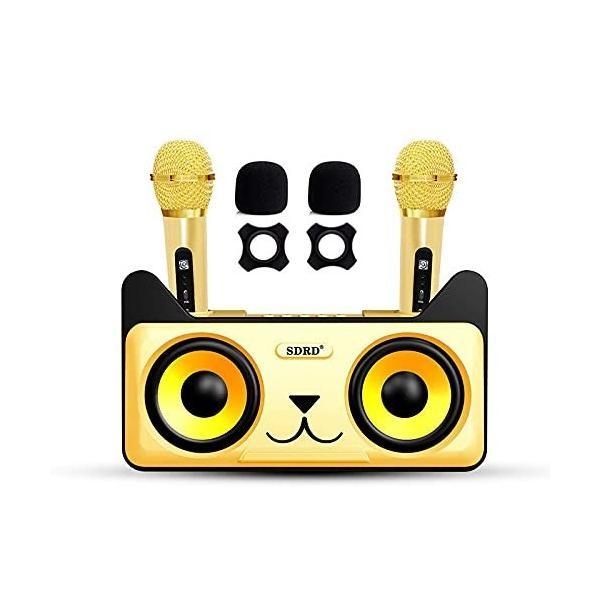 Bluetoothカラオケマイク Bluetooth カラオケ歌うマシン ポータブルスピーカー ホームKTV ワイヤレスマイクシステ