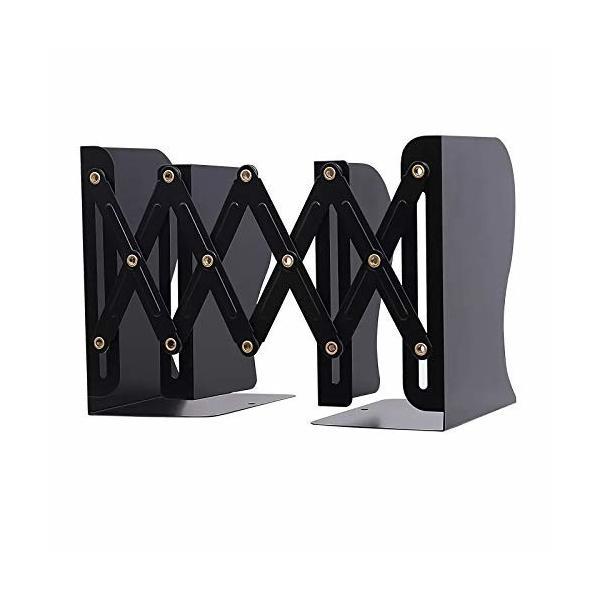 本立て ブックスタンド 卓上 伸縮 仕切り 金属製 ブックエンド 折り畳み ファイル/書類/雑誌/教科書 オフィス