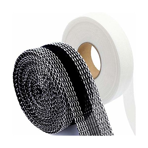 裾上げテープ&接着芯テープの強力接着セット 強力すそ上げテープ 布 接着剤 11m巻 23mm幅 黒 超ロングタイプ ア
