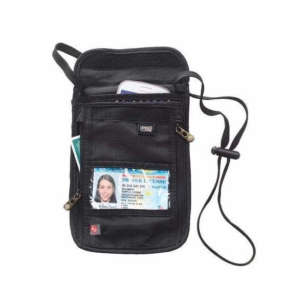 LEWIS N.CLARK トラベル パスポートケース RFID ブロック ICタグ セキュリティ ネックストラップ 5ポケット トラベ