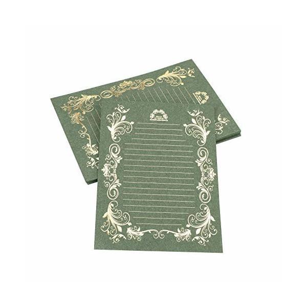 レターセット 40枚 お礼状 便箋 花柄 アンティーク レターセット おしゃれ かわいい 結婚 メッセージカード 手