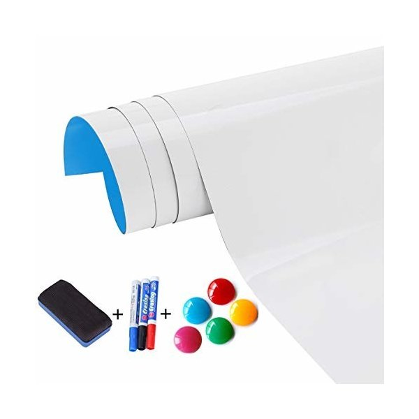 ホワイトボード マグネット 磁石 はってはがせる UNIQUEEN 取り付け簡単 書きやすくて消しやすい 45CM*200CM 学習