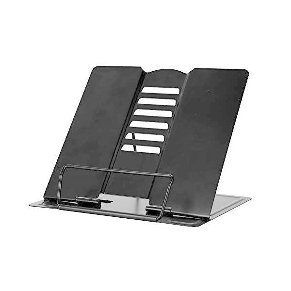 ITODA 書見台 データホルダー 6段階調節 折り畳み式 金属製 読書台 ブックホルダー 読書 勉強 卓上 筆記台 読書
