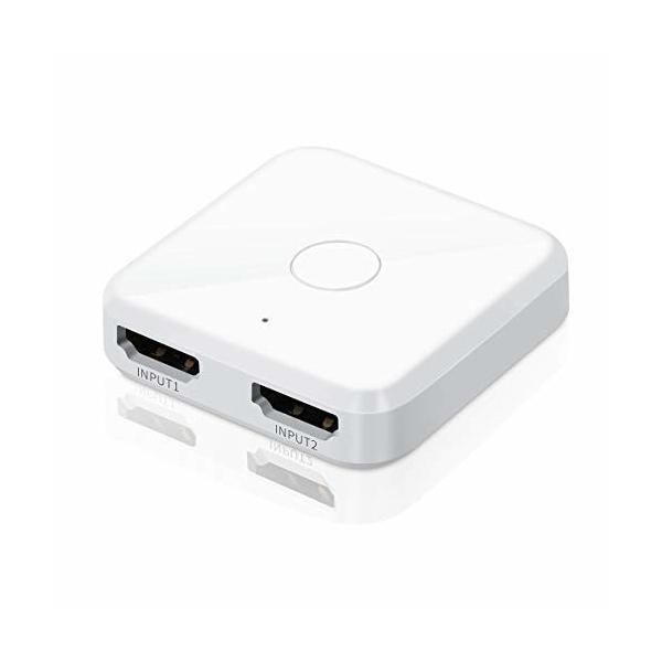 LANMU HDMI分配器 hdmi セレクター HDMI切替器 ホワイト 双方向 4K/3D/1080p HDMI 2.0 HDR 2入力1出力/1入力2出力 手動切替