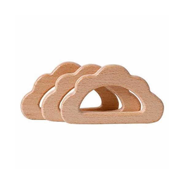 Mamimami Home 木製 ペンダント チャーム 10個 雲 ブナ 木 天然素材 動物 無塗装 安全 DIY アクセサリー 部品 質材 素