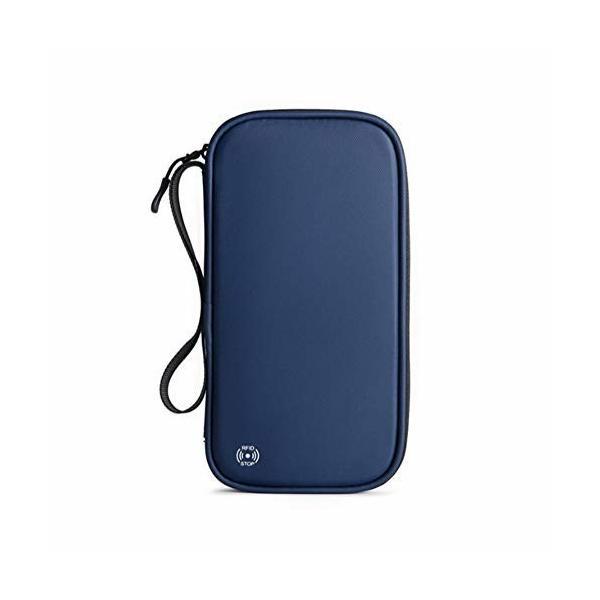 Empireo パスポートケース スキミング防止 RFID たっぷり収納 カードケース 薄型 セキュリティポーチ 通帳 トラ