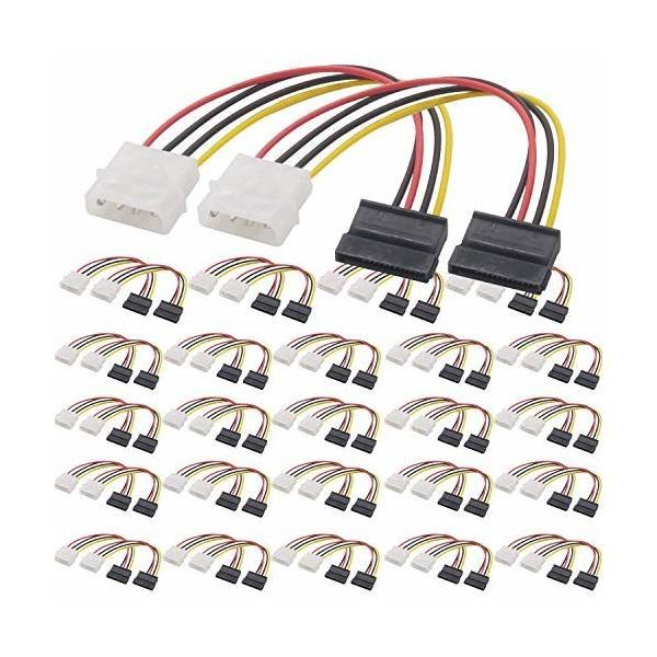 オーディオファン シリアルATA用電源変換ケーブル 50点セット SATA電源 (15ピン) ケーブル ストレート
