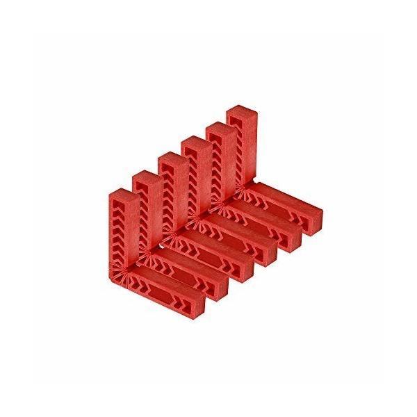 Sourcemall L型直角定規 直角定規 コーナークランプ 固定 強化プラスチック製 木工ツールDIY工具 (100mm (6点セット)