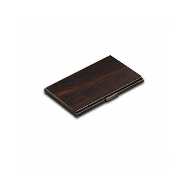 「BuzzPower」木製・ステンレス製 名刺入れ カードケース 高級 メンズ レディース兼用 ギフト (全6種類)(紫檀)