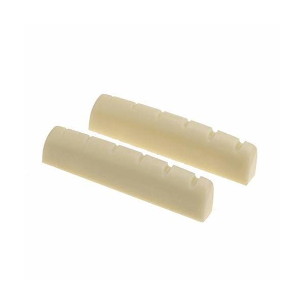 Musiclily Pro尿素樹脂プラスチック製 43mm 弦溝加工済みナットギブソンタイプ 6弦レスポール/アコースティックギ