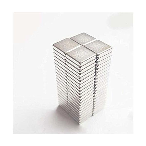 10mmX10mmX2mm-40ピース 矩形 磁石、ネオジム磁石冷蔵庫用磁石、冷蔵庫、オフィス、科学および技術の小さなディ