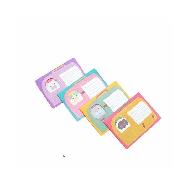 レターセット猫メッセージ4 (猫4セット) メッセージカード レターセット お祝い 招待状 手作り ペーパーアイ