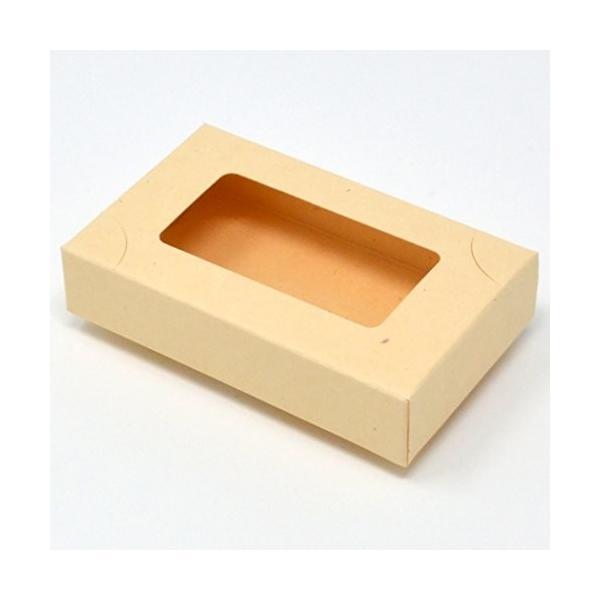 名刺箱 紙製 4号 サイズ 窓あり クリーム (S/20mm-10個)