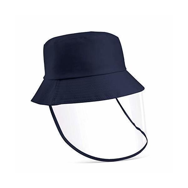 漁師帽つば広ハットフェイスシールド透明シールドレインハットレインバイザーサンハットバイザー顔
