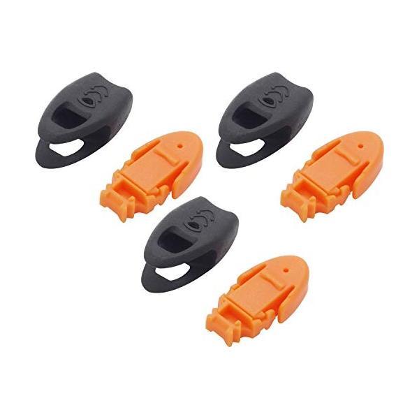 オーディオファン コードストッパー ホイッスル付き 3点セット ゴム紐止め 3mm コードエンド コードロック