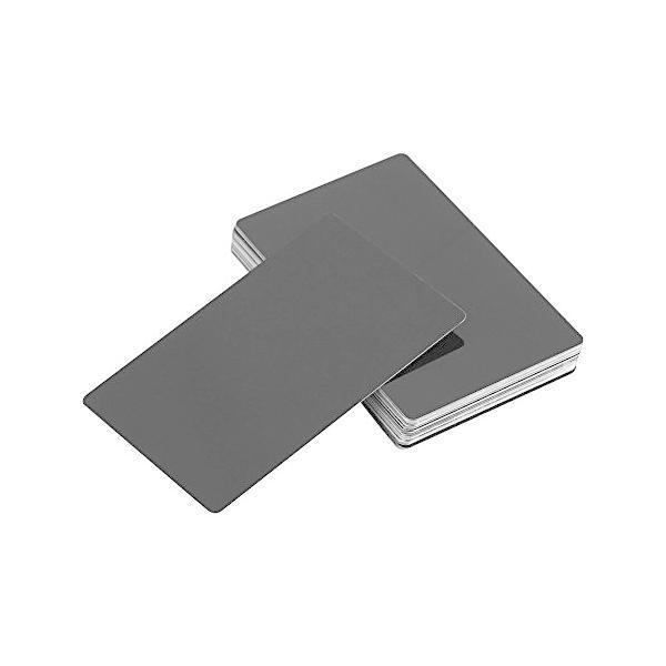 Akozon 50個名刺印象的な空白レーザーマーク刻まれた金属滑らかなビジネス訪問名刺5色(黒)