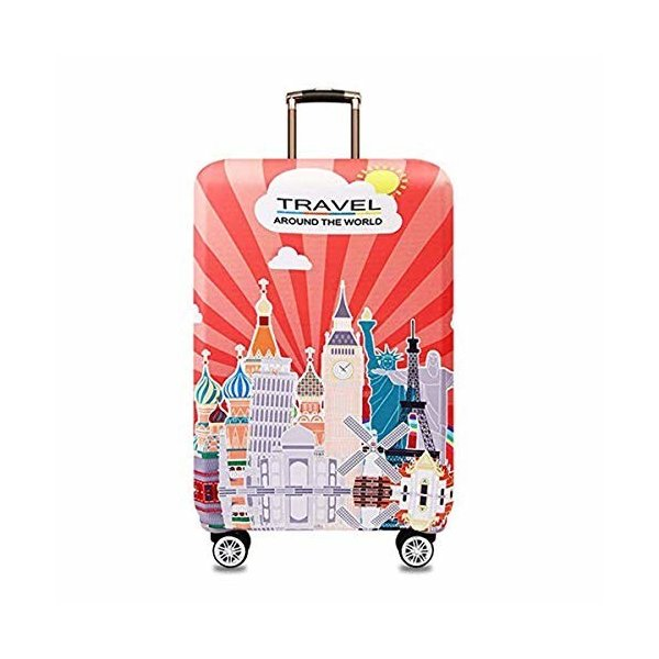 LECKYスーツケースカバー キャリーカバー ラゲッジカバー 伸縮素材 キズから保護 防塵カバー通気性 傷防止 カ