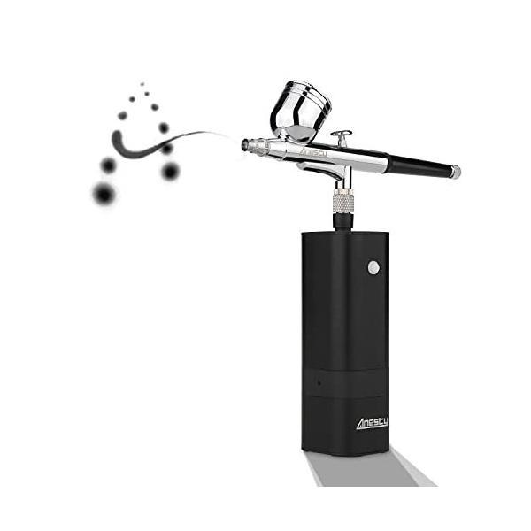 Anesty エアブラシ 充電式 32pICS 強い噴出力 小型化 エアブラシ セット コードレスで小回りが利く コンパクトサ