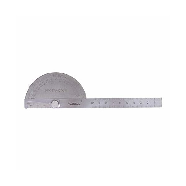 iplusmile 角度定規 ゴニオメーター 分度器 ステンレス鋼 角度計 屋外 測定 木工用