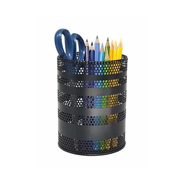 Produco ペン立て 鉛筆立て ペンスタンド 事務 オフィス 机上収納 用品ケース, ブラシスタンド (大) (ブラック)